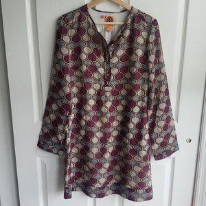 Tory Burch Wool Blend Henley Shift Dress Size 8